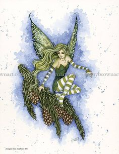 Amy Brown Evergreen Faery - an amazing new print!!!