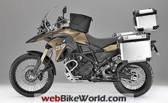 BMW F 800 GS with Luggage