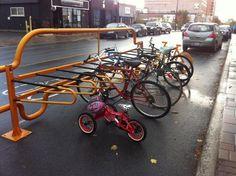 Bike corral, Wellington St., Ottawa. Photo: Lana Stewart. Visit the slowottawa.ca boards >> http://www.pinterest.com/slowottawa/