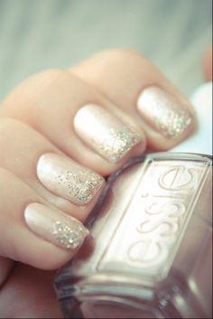 Never too old to like like a princess. #Essie #wedding #nails #nailcolor #nailpolish