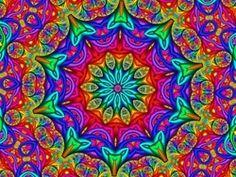 mandala by Jacqueline Cordeiro! Art Optical, Optical Illusions, Fractal Design, Fractal Art, Tie Dye Crafts, Hippie Art, Psychedelic Art, Mandala Art, Rainbow Colors