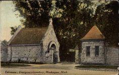 Entrance, Evergreen Cemetery Muskegon Michigan