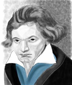 Os Meus Passatempos: Beethoven - art digital