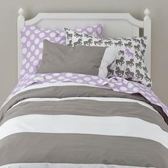 Full New School Sheet Set (Purple w/White Dot) | The Land of Nod