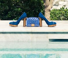 All blue everything. http://www.thecoveteur.com/chanel-cruise-2015-dubai-razane-jammal/