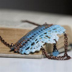 Crocheted necklace so so beautiful! collar de ganchillo! #ganchillo #crochet
