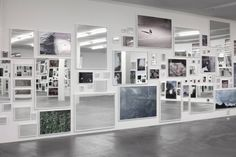 Douglas Gordon, Everything is nothing without its reflection; A Photographic Pantomime, 2013. Installation view Galerie Eva Presenhuber, Zürich, 2013,180 Photographs, 180 mirrors; framed