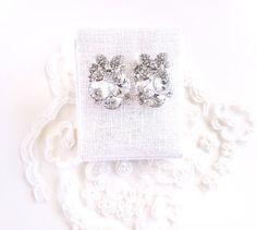 Swarovski Crystal Cluster Ohrringe großen von TheresaChoDesigns