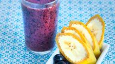Smoothie med banan og blåbær | Opskrift til en sund kost