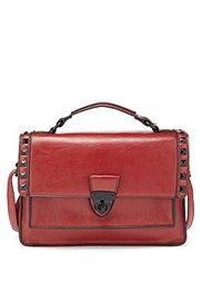 Limited Edition - Bolso estilo satchel con tachuelas, , catlanding