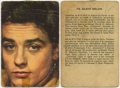 The young Alain Delon. Old collectable card
