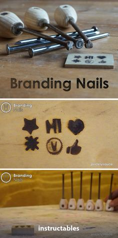 Branding Nails #workshop #woodworking #tools