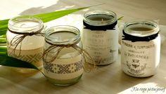 Na rogu pistacjowej: świece w słoikach