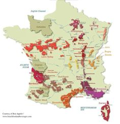 Bon appetit wine map of France