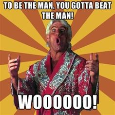 """Who's gonna win the Mancation Title?!?!?   - Charlotte's own, Ric Flair """"The Nature Boy"""""""