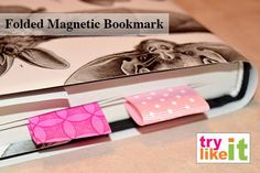 Folded Magnetic Bookmark :: a Back to School Craft | Try It - Like It :: craft, eat, read, buy, win, link  craft with kids  craft lightening  easy craft  great gift