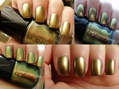 Catrice Genius in the Bottle #swatch #nails #nailpolish #Catrice #gold