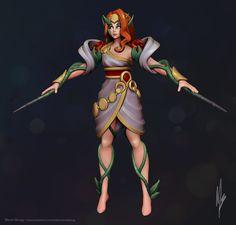 Mythic Zyra Sculpt- FanArt (League of Legends) by Mona Skoog