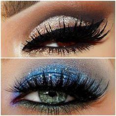 glitter eye make up Beautiful Eye Makeup, Stunning Eyes, Love Makeup, Makeup Art, Makeup Tips, Makeup Looks, Makeup Ideas, Mascara, Eyeliner