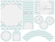Free party printables: invites, tags, banners, and more (chevron, Dr. Seuss...)