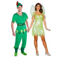 Déguisements Peter Pan et Clochette #déguisementscouples #nouveauté2016