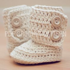 Crochet Pattern for Baby Boots, Crochet Boot Pattern, Booties Pattern, Baby Boots Pattern, Gender Neutral Boots. $5.95, via Etsy.