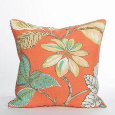 Lucala Pillow / Tangerine - Biscayne Collection | Beach Pillow | Coastal Pillow