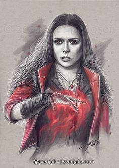 svenjaliv:  She's Weird Wanda Maximoff aka Scarlet Witch. Pietro's here! art | society6 | redbubble Please don't crop/edit/tweet and please reblog, don't repost. Thank you!