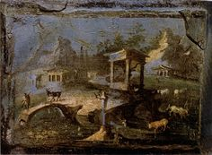 3rd style landscape found at the Villa at Boscotrecase outside Pompeii. Notice all of the details, like the flowers and the buildings in the background. Painted 3rd Style Landscape. N.d. Villa at Boscotrecase outside Pompeii. ACTA ACCLA. VCoins.com. Web. 27 Sept. 2011.