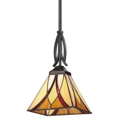 View the Quoizel TFAS1507 Asheville 1 Light Mini Pendant with Tiffany Stained Glass at Build.com.