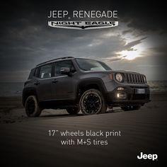 Nowy Jeep Renegade Night Eagle. Chwyć przygodę! #Jeep #JeepPeople #JeepRenegade #NightEagle