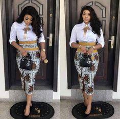 17 Latest Ankara Skirt Styles You Should Check Out African Attire, African Wear, African Women, African Dress, African Pencil Skirt, Latest African Fashion Dresses, African Print Fashion, Africa Fashion, Ankara Fashion