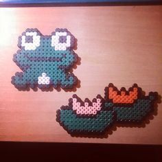 Frog perler beads by yaredbluewind