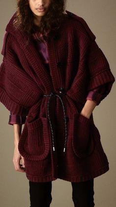 Oversize Check Knit Cardigan | Burberry