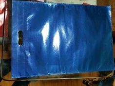 Metallic blue D-cut bag