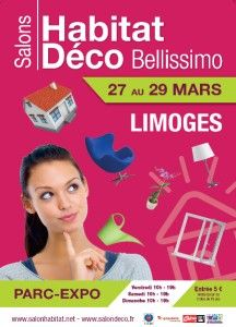 #Salon Habitat et Jardin et Déco Bellissimo à Limoges du 27 au 29 mars 2015. les salons dédiés à l'univers de la maison et à l'aménagement de l'espace extérieur. http://www.batilogis.fr/agenda/salon-france-2015-1.html