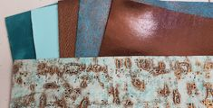 "10% Discounted MATCHED LEATHER 6 Pieces 5""x11"" Wildwood Turquoise and 5 colors that match well, Cowhide by PeggySueAlso on Etsy Leather Industry, And Peggy, Robins Egg, I Shop, Bronze, Turquoise, This Or That Questions, Colors, Etsy"