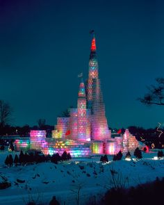 One of our beautiful Ice Castles - St. Paul, MN