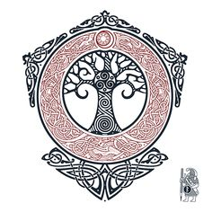 YGGDRASIL.TREE OF LIFE. Knotwork Tattoo design by RAIDHO.