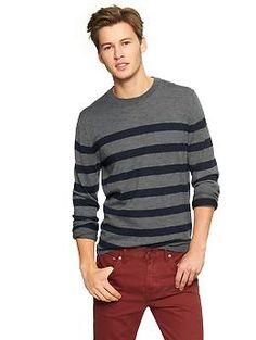 For Todd:  Merino striped crewneck sweater | Gap - size M