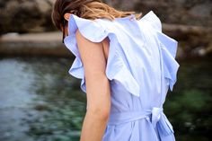 Robe en popeline de coton - Delphine #lookbook #atode #summer #ss17 #madeinfrance #robe #coton #dress #minimaliste
