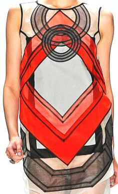 patternprints journal: BEAUTIFUL GEOMETRIC PATTERNS AND MOTIVES IN WOMAN COLLECTION SPRING/SUMMER 2013 BY VIVIENNE TAM
