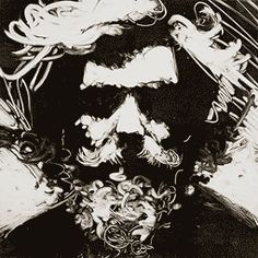 Thomas Shahan, self portrait, monoprint