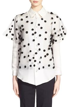 JULIEN DAVID Tulle Top available at #Nordstrom