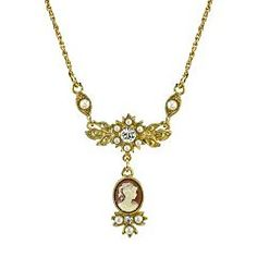 Downton Abbey Cameo Necklace