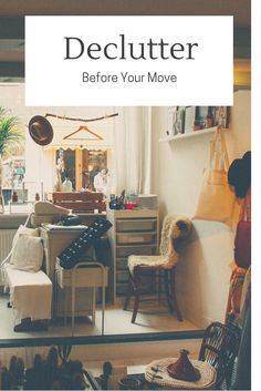 Make your move less stressful for yourself by taking the time to declutter before your move. There's no sense in paying a moving company, or spending your own time, hauling items that you won't use or have been meaning to replace.