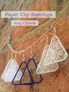 DIY-Paper-Clip-Earrings-Amy-Christa....could make a matching pendant put it on a pretty silk ribbon or crochet something for the pendant to hang from.