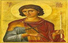 """Fanourios, Greek Orthodox Saint that intercedes for us when we lose things. His name is from the Greek word fanerono which means """"I Reveal"""". Religious Icons, Religious Art, Greek Icons, Religion, Byzantine Icons, Art Icon, Orthodox Icons, Orthodox Christianity, Images"""