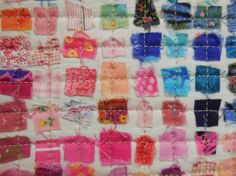 close up of quilt from Art With a Needle