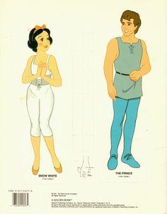 1991 Disney's Snow White & the Seven Dwarfs Uncut Paper Doll Book   eBay